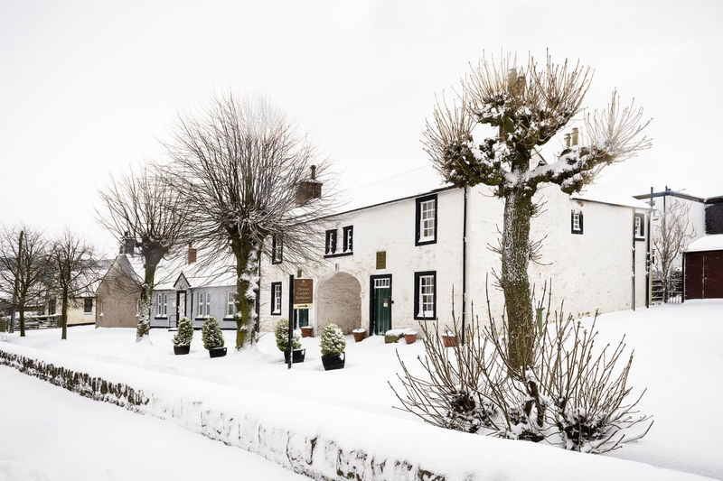 1088 - 20180228 Ecclefechan Carlyle Ecclefechan Architecture Bare Tree Building Building Exterior Built Structure Carlyleslife Cold Temperature Day Field House Nature No People Outdoors Plant Residential District Sky Snow Street Tree White Color Winter