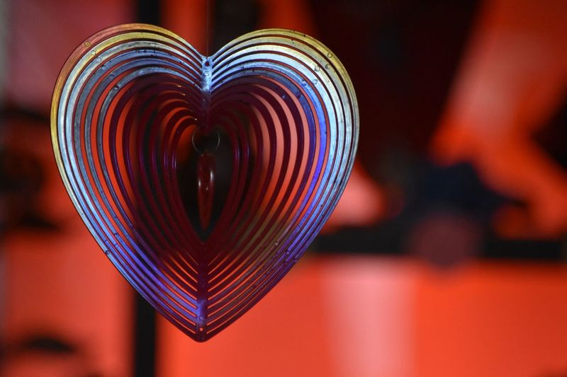 Heart Shape Close-up Focus On Foreground Love Indoors  Positive Emotion Multi Colored Decoration Celebration Selective Focus Shape Craft Design