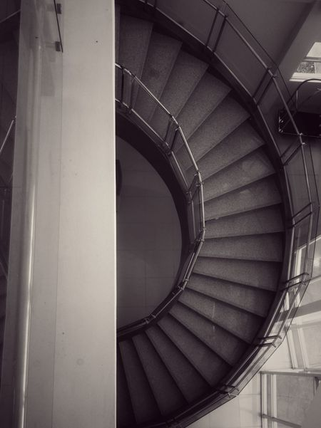 Architecture Built Structure Indoors  Spiral Spiral Staircase Repetition Modern Steps Architectural Feature Coil Day Diminishing Perspective Concentric No People Architectural Column Elevated Walkway Interior