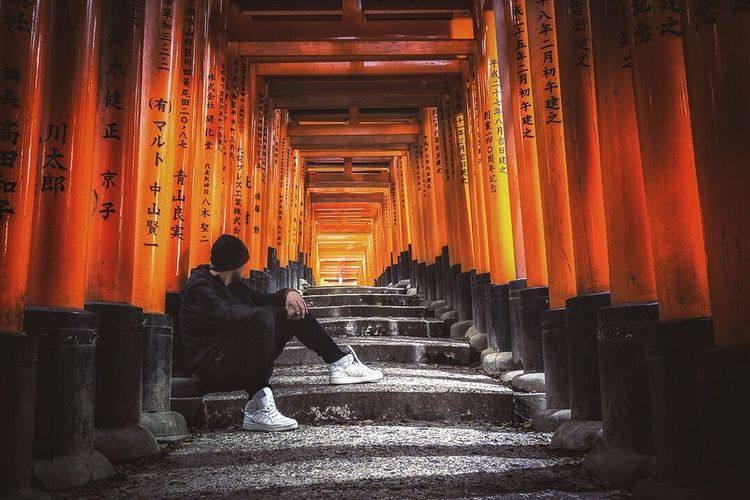 """Choose Your Path"" Kyoto ASIA Travel Destinations Japan Photography Japan One Person The Traveler - 2018 EyeEm Awards"