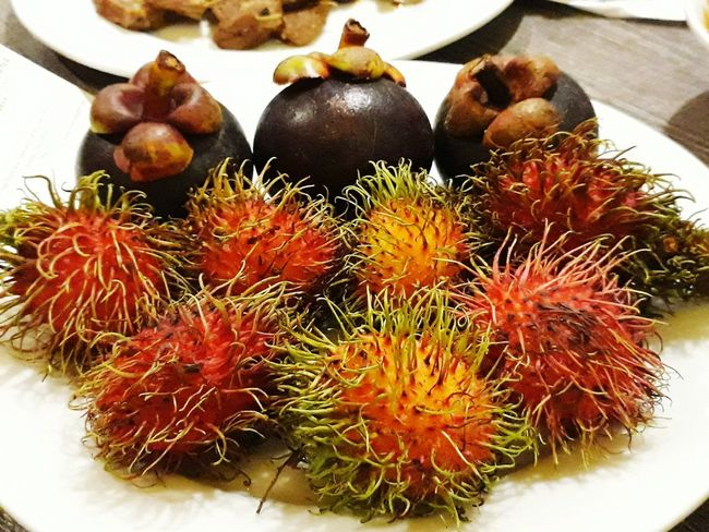 Food Food And Drink Healthy Eating Indoors  High Angle View No People For Sale Freshness Table Market Close-up Day Nature Asian  Asian Fruits Mangosteen Rambutans Malaysia