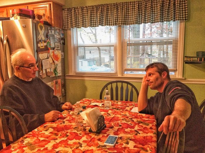 Enjoy The New Normal thanksgiving dinner discussions... Indoors  Home Interior Two People Men Senior Adult Senior Men Food Domestic Life People Adult Adults Only Day EyeEm Gallery IPhoneography EyeEm November Kitchen Family Inlaws