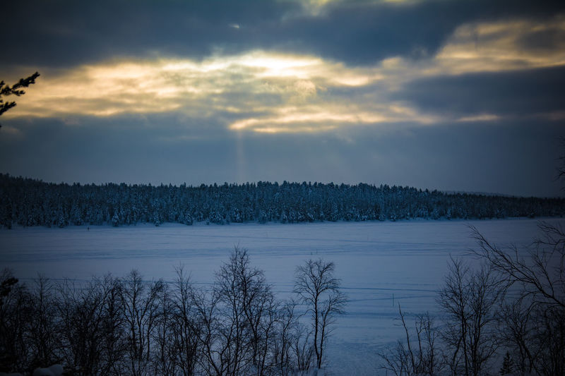 Enontekiö Finland Lappland Suomi Beauty In Nature Cloud - Sky Cold Temperature Frozenlake Lake Landscape Nature No People Outdoors Scenics Sky Snow Sunshine Tranquil Scene Tranquility Tree Weather Winter The Great Outdoors - 2018 EyeEm Awards