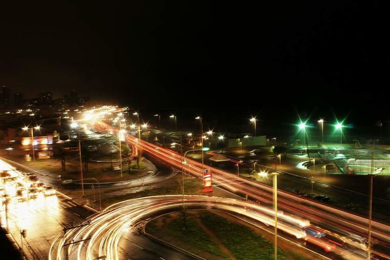 Bahia/brazil Night Illuminated Motion Light Trail Traffic Road Street Light Long Exposure Blurred Motion Outdoors No People City High Street Speed Transportation Street Mode Of Transport Rush Hour