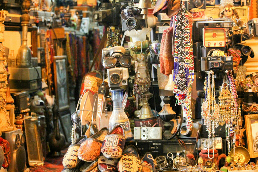 Old antiques Abundance Arrangement Business Choice Collection Display Food And Drink For Sale Indoors  Large Group Of Objects Market Market Stall Retail  Retail Display Sale Shop Small Business Still Life Store Variation