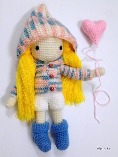 My Crochet Doll (no.2) @ Girl with Love Crochet Crocheting My Crochet Creations My Crochet Doll