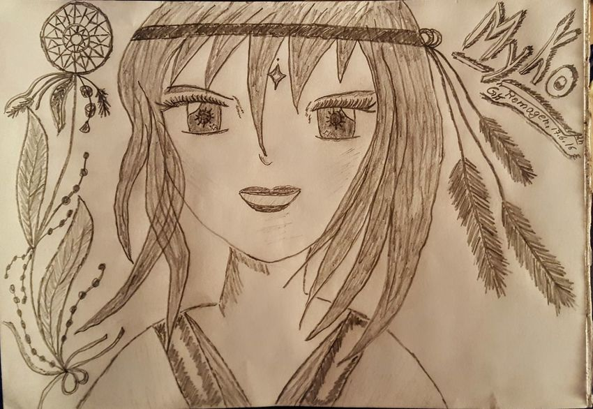 """My drawing....I give every Manga a name ...she is called """" Myko"""" ... Hello World Relaxing Architectural Detail Pivotal Ideas Drawing Art, Drawing, Creativity Mangaart Girls"""