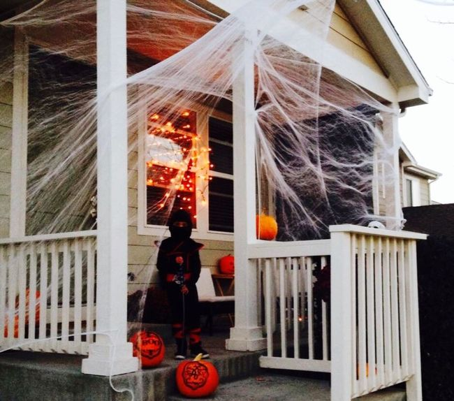 Architecture Built Structure In Front Of Halloween Costumes Ninja Spiderweb October Sweet October! October