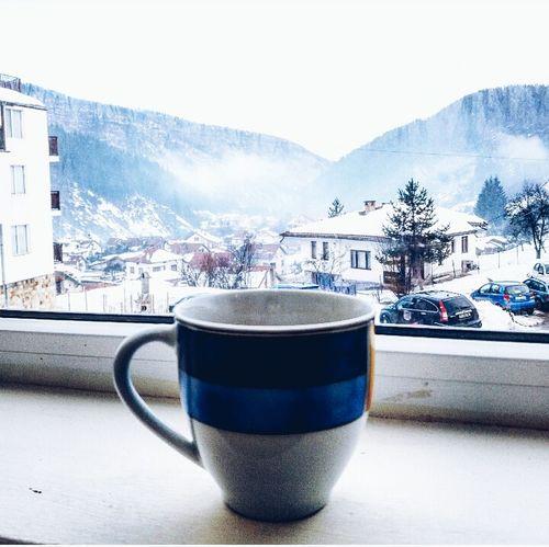 Coffee Morning Winter Snow Window