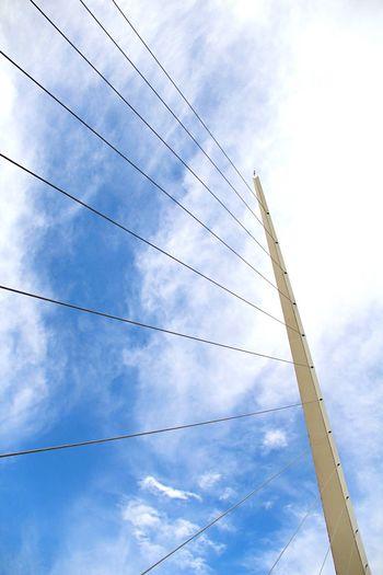Puente de la mujer. Cable Sky Design Low Angle View Cloud - Sky Connection Fuel And Power Generation No People Day Outdoors Electricity Pylon Bridge Calatrava Puente De La Mujer Puerto Madero, Buenos Aires Argentina
