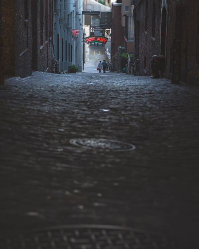 Architecture Built Structure Building Exterior Wet The Way Forward Water No People Day Outdoors City Post Alley Seattle Washington Nikon D7200