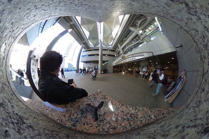 Heart ❤ view. Theta Theta360 City Life City View  Streetphotography People Watching EyeEm Best Shots - The Streets EyeEm Best Shots The Purist (no Edit, No Filter) Snapshot Taking Photos お写ん歩 Walking Around