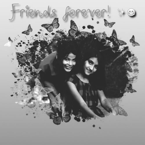 WaybackWednesday Black And White Love ♥ Bestfriends <3 this from when I was in 3rd grade ✨???✌?