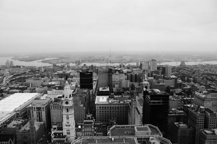 Life is much more successfully looked at from a single window -F. Scott Fitzgerald Vscocam Showcase: January Viewfromthetop Observation Deck City View  Discover Your City Philadelphia Black And White Photography Black&white Black And White Philly Cityscape City Skyline Citylandscape