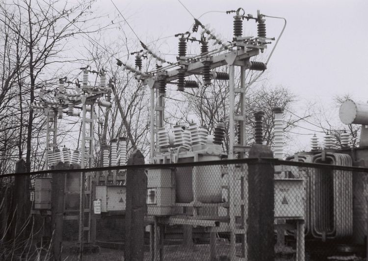 35mm 35mmfilmphotography Eletric Electricity  Power Station Power Line