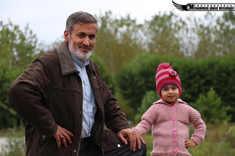 Father Family Outdoors Nature Two People Men Child River Gilan Manzare Iran Rasht Sade Pasikhan Kid Girl Niece  Portrait Mjavad73