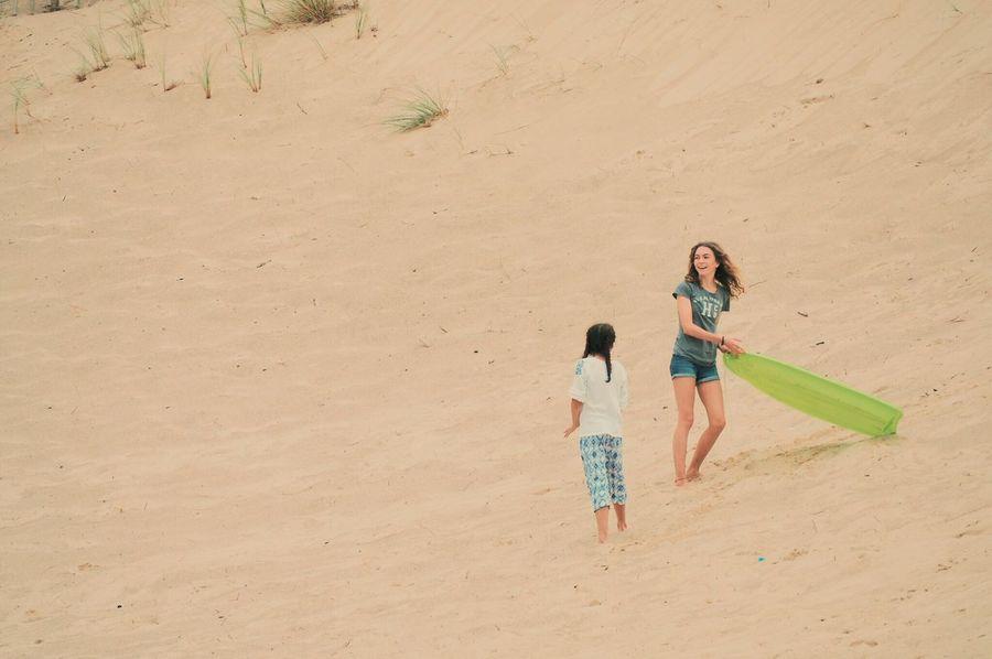 EyeEm Selects EyeEm Selects Sand Togetherness Childhood Girls Leisure Activity Real People Beach Fun Vacations Family Enjoyment Daughter Sand Dunes Islandlife Euphoria