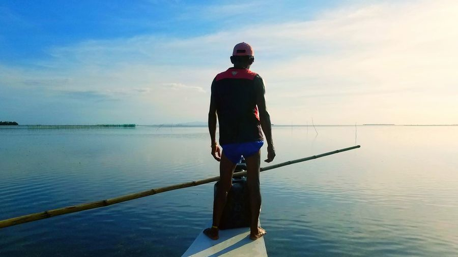 One Man Only Tranquility Outdoors Panglao Bohol Philippines Filipino banka First Eyeem Photo