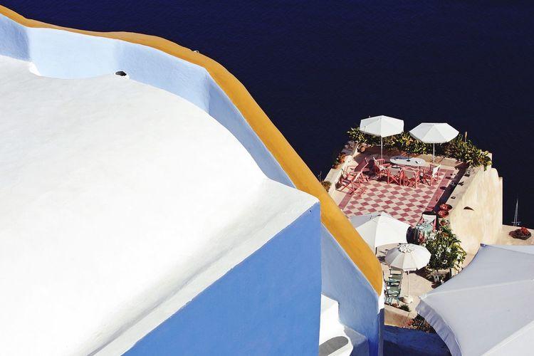 Santorini, Greece Oia Sea Sea View Village Graphic Colours Villa