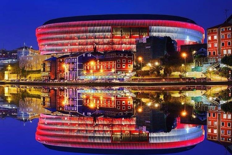 San Mamés Stadium. Final Day Bilbao I Love My City❤ Basque Country Nightphotography Night Lights I Love My City