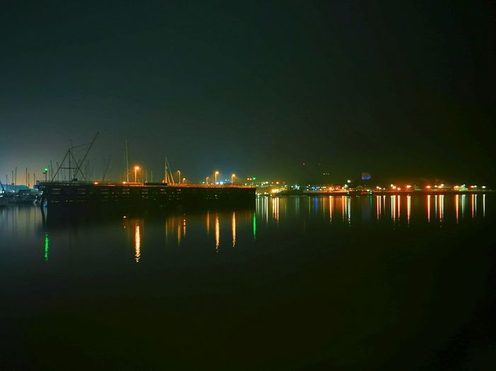 A long exposure shot at plymouth barbican harbour. Reflection Night Illuminated Water Sea Outdoors No People Nautical Vessel Commercial Dock Multi Colored Harbor City Plymouth Plymouthbarbican Lightsonwater The Great Outdoors - 2017 EyeEm Awards