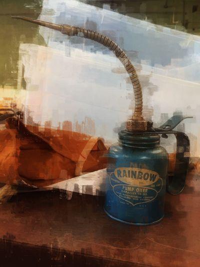 Q Quieten Oil Can Oil Can Painterly Edit Edit Junkie The Maximals (more Edit Juxt MAX It) Still Life Clutter Quell Quiet Quiet Moments Vintage Blue Metal