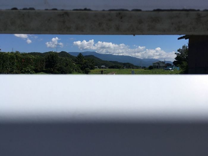 Sky under the Handrail  No Edit/no Filter Nature Mountain Beauty In Nature Day No People Water Outdoors IPhoneography The Scenery That Tom Saw Tomの見た世界 Japan Photography