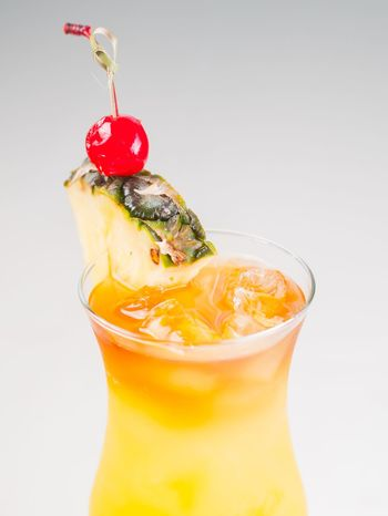 Drink Studio Shot Food And Drink Freshness Drinking Straw Close-up Refreshment No People Cola Fruit Drinking Glass White Background Cold Temperature Alcoholic Beverages Cocktails Cocktail Piña Colada Long Island Orange Juice  Pineapple Cherry Bar Restaurant
