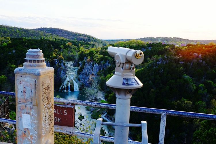 Turner Falls, at 77 feet (23 m), is locally considered Oklahoma's tallest waterfall, although its height matches one in Natural Falls State Park. The falls are located on Honey Creek in the Arbuckle Mountains in south central Oklahoma, 6 miles (9.7 km) south of Davis. Mazeppa Thomas Turner, a Scottish immigrant farmer who married Laura Johnson, a Chickasaw woman, settled in the area in 1878 and discovered the falls.The falls were named for him. Recreational use began in or before 1868. Today, the falls are part of Turner Falls Park, a city park operated by the city of Davis, Oklahoma. The Falls cascade into a natural swimming pool, one of two such pools within the park, and these are popular tourist destinations in the summer. The city of Davis acquired the park in 1919 and operated it until 1950. It then leased the facility to other interests until 1978, when it resumed control. The park covers 1,500 acres (6.1 km2), and also contains nature trails, caves and other interesting geological features. It also has a walk-in castle which was built in the 1930s. Mountain View On The Road Water_collection Check This Out Telescope Arbuckle Mountains View From Above EyeEm Gallery From My Point Of View Landscape