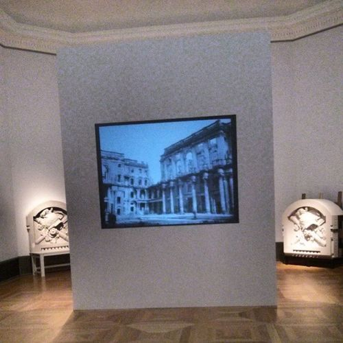 Interesting, in the Bode Museum you can watch a video of the Berlin Palace destruction while it is being rebuilt outside Bodemuseum Berlin Infiniteloop
