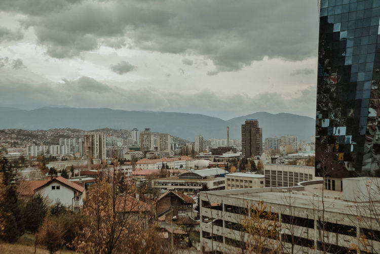 Day No People Nature Outdoors Bosnia And Herzegovina Sarajevo Streetphotography Street Street Photography Autumn Autumn colors autumn mood Canonphotography Canon Architecture Building Exterior Built Structure City Sky Building Cloud - Sky Residential District Cityscape High Angle View Tree Office Building Exterior Skyscraper Apartment TOWNSCAPE