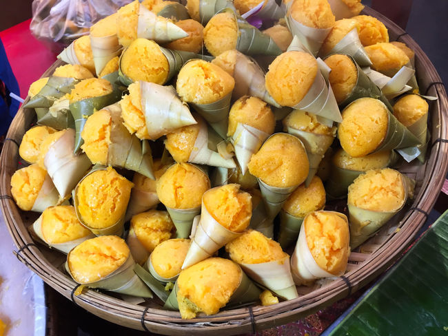 Colorful Traditional Thai Dessert in Thailand Cake Luk Tarn Thailand Toddy Palm Cake (Thai Dessert) – Cake Luk Tarn Traditional Thai Dessert Close-up Colorful Day Food Food And Drink Freshness Indoors  No People Ready-to-eat Sweet Sweet Food Thai Dessert Traditional Dessert In Thailand