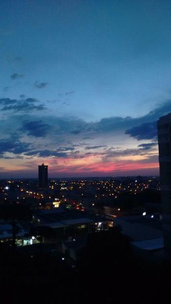 Guarapuava - PR - Brasil Céu Noite Semfiltro Por Do Sol