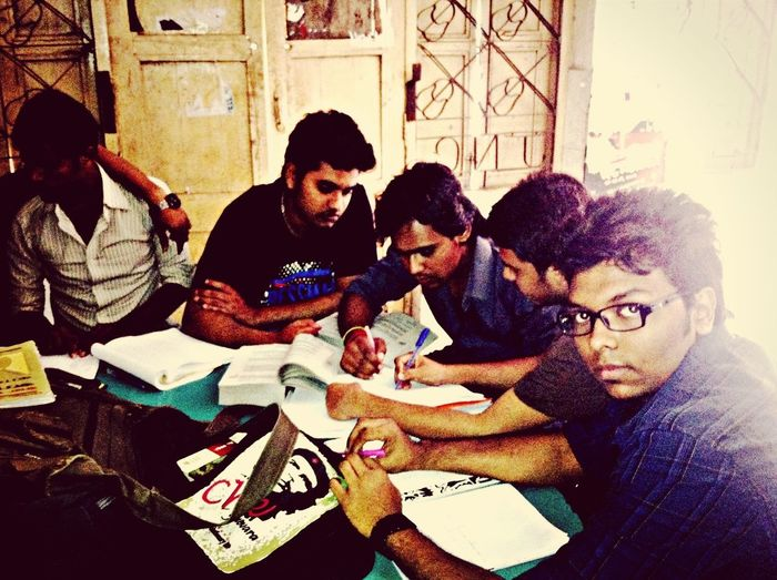 During group study