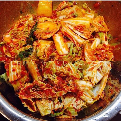 My Homemade Cabbagekimchi Kimchi 김치 Instafood Spicy Cabbage Foodporn Foodstagram Foodblog IPhoneography Koreanfood
