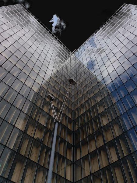 Architecture Sky Façade Bibliotheque Patrimoine Clouds And Sky Variation Paris❤ Low Angle View
