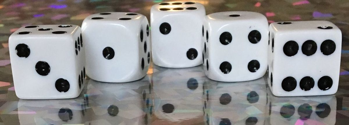 Dice Staggered Shiny Black White Five Sparkles Reflections Reflection EyeEmNewHere