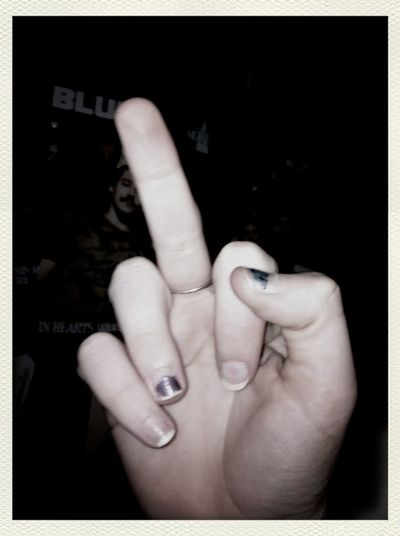 This photo Show Me Your Middle Finger