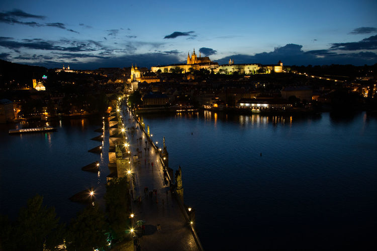 Architecture Building Exterior Built Structure Castle, Fortress, Protection, Fort, Security, Ancient, Dominating City City Cityscape Cloud - Sky Czechoslovakia Fortress Illuminated Nature Night No People Outdoors Prague Reflection Sky Sunset Travel Destinations Tree Tschechien Tschechischen Republik Water