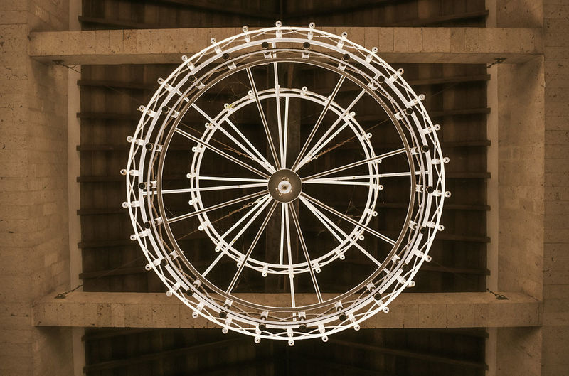 Architecture Cealing Chandelier Circle Close-up Geometric Shape Geometrical Patterns Hanging Indoors  Low Angle View No People