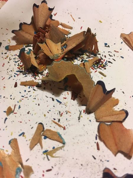 Pencil Shavings Pencil Shavings Still Life Wood - Material Table Indoors  Pencil Sharpener Variation No People Close-up White Background Multi Colored