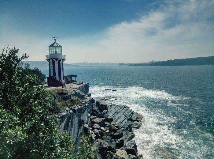 Vintage Australia Sydney Lighthouse_lovers Sunny Day EyeEm Selects Sea Horizon Over Water Lighthouse Beach Water Sky Vacations Scenics Travel Destinations Building Exterior Day Beauty In Nature Outdoors No People Tranquility