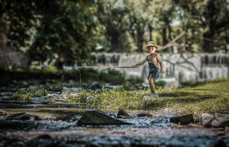 Leisure Activity Nature Real People One Person Water Day Boys Child Childhood Selective Focus Outdoors Holiday Moments Moments Of Happiness 2018 In One Photograph