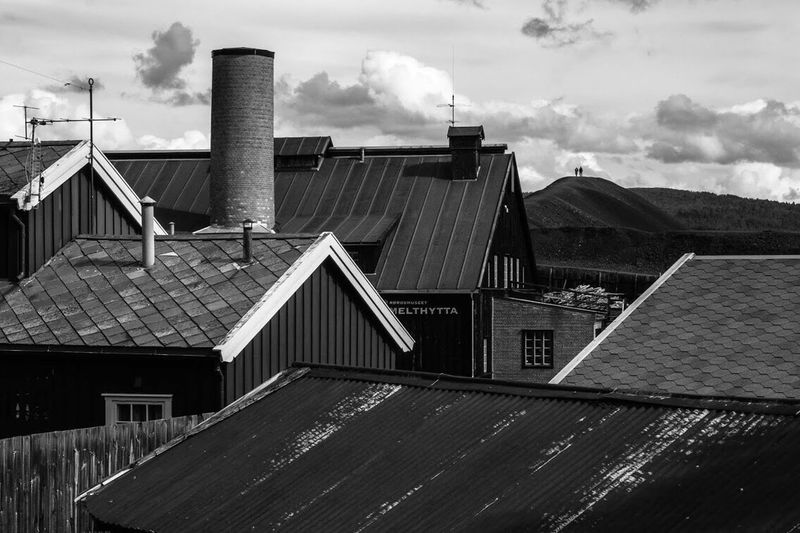 Old mining village and slagg heaps in Røros, Norway Røros Mining Norway Blackandwhite Canon