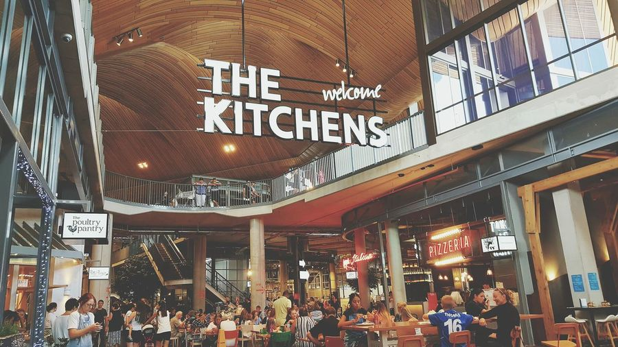 Large Group Of People Store Crowd People Architecture Food Food Hall Shopping Center Food Heaven Foodie Heaven Foodies Robina, Queensland The Kitchen