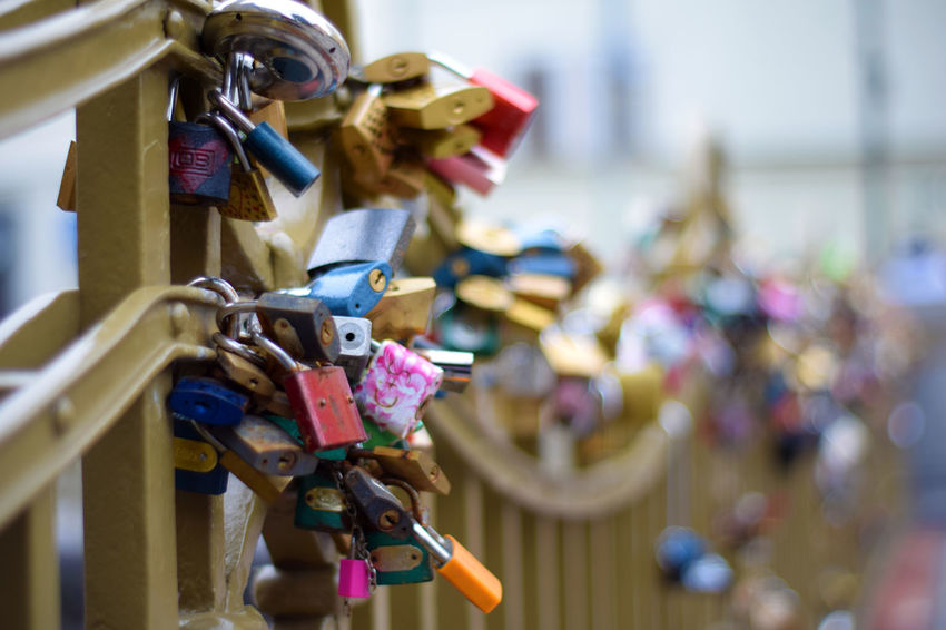 """Love locks"" at Prague Old Town Bestoftheday Close-up Czech Republic Enjoying Life Eye4photography  EyeEm Best Shots Faith Focus On Foreground Hanging Hope - Concept Inspirational Lock Locks Of Love Love Love Love Lock Love ♥ Luck Master_shots Metal Old Town Prague Symbol"