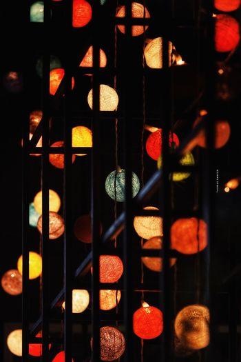 Full frame shot of illuminated glass window