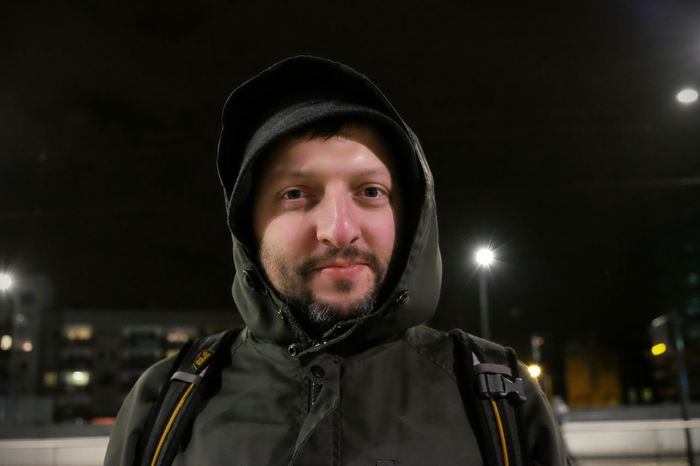 Winter portrait of Lukasz. Day was cold and windy but we still went to see brand new train station in our hometown. Looking At Camera Portrait One Person Winter Warm Clothing Cold Temperature Confidence  Night Adult Focus On Foreground Being Lukasz Łódź, Poland via Fotofall