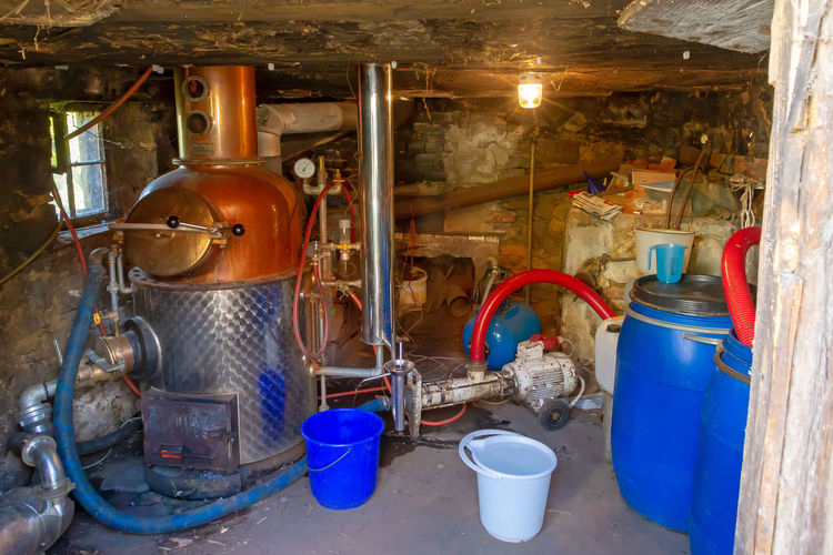 Old distillery in Black Forest near Haslach. Germany Indoors  Industry Equipment Old No People Alcohol Black Forest Production Produce Fruits Schnapps Schnaps Factory Spirit Distillery Distillation Baden-Württemberg  Schwarzwald Germany Simple Haslach Kinzigtal Funny Cottage Schnellingen
