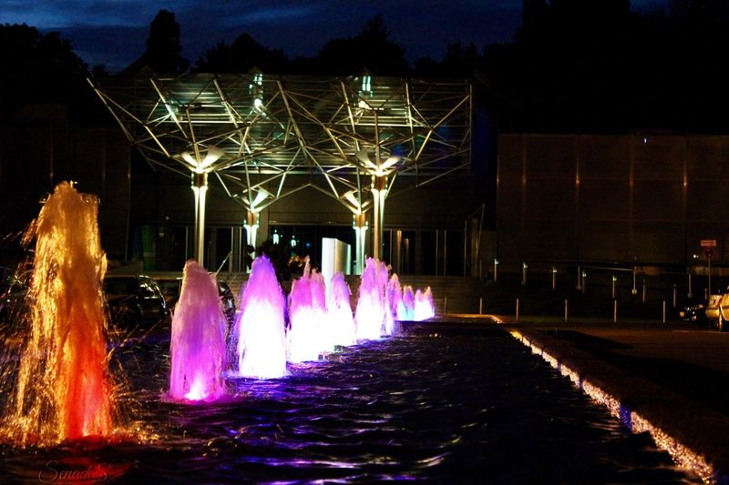 Casino Aachen Eurogress Night Illuminated Long Exposure Motion Outdoors Women EyeEm Best Shots Sky Glamour